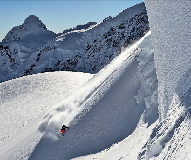 Powder action? Safe bet! #Freeriding #BackcountrySkiing