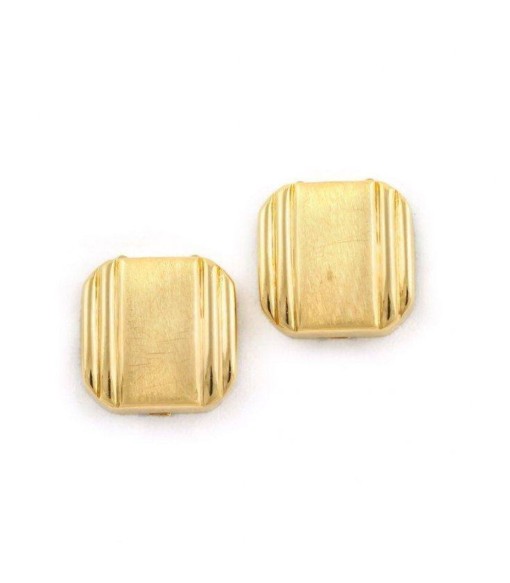 Cubrebotones cuadrados de oro amarillo 18kt
