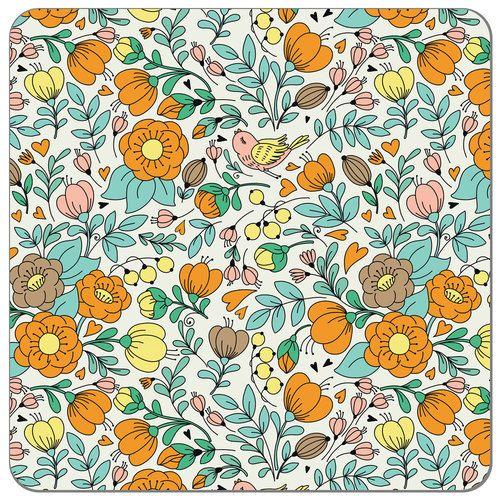 Birdie Bloom Print PUL   Print PUL Fabric   Diaper Sewing Supplies