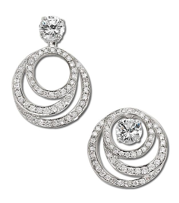 White Gold Diamond Double Hoop Earring Jackets Gottlieb Sons Inc