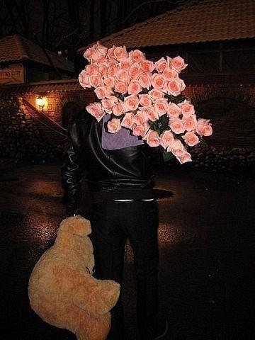 teddy bear + roses