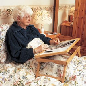 http://www.midlandmobility.co.uk/index.php?main_page=product_info&cPath=65&products_id=182 Attractive, practical wooden frame bed tray. Adjustable to five different angles for reading, writing, etc. The legs fold out to allow the tray to be placed comfortably across the lap. For more information visit Midland Mobility. Midland Mobility 194 Torrington Avenue, Tile Hill, Coventry, CV4 9BL Tel. 02476 462424