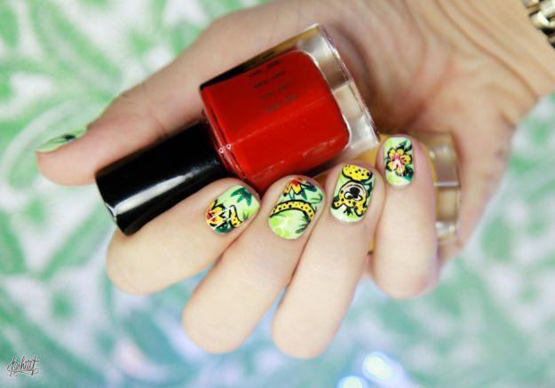 Яркий мультяшный маникюр ::: onelady.ru ::: #nail #nails #nailart #manicure