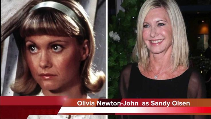 Grease Cast Then & Now Olivia Newton-John