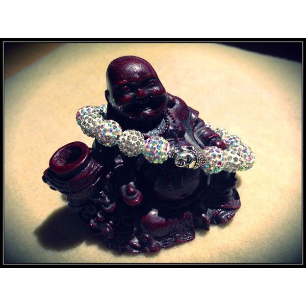 This stunning piece made with disco ballbeads is gorgeous sparkly  piece to go wih any outfit with A gorgeous heavyweight Buddha bead stunning piece