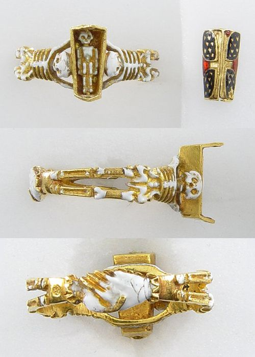 Mourning ring, made in England in the 17th century