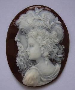 Not an Antique Cameo  but still  amazing~ ZEUS AND HERA