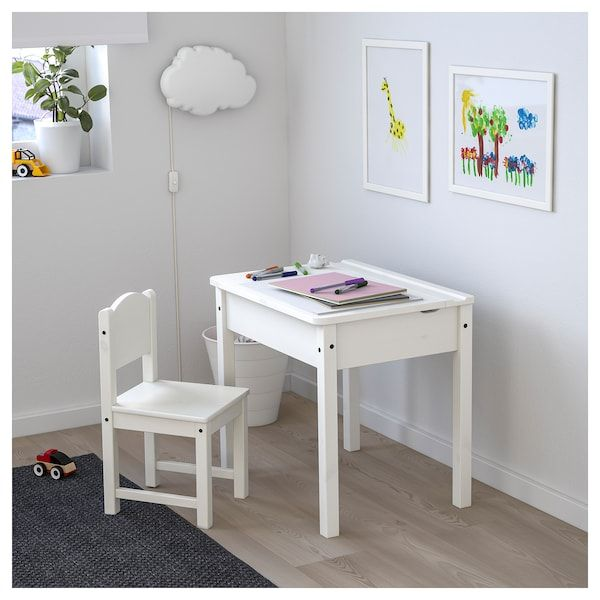 Sundvik White Children S Desk 60x45 Cm Ikea Childrens Desk And Chair Ikea Childrens Desk Childrens Desk
