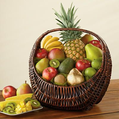 Fresh Fruit Gift Basket Deluxe - It rains a lot in Oregon. So we have a habit of keeping bright and sunny fresh fruit on hand. Full of bold flavor and ripened to perfection.