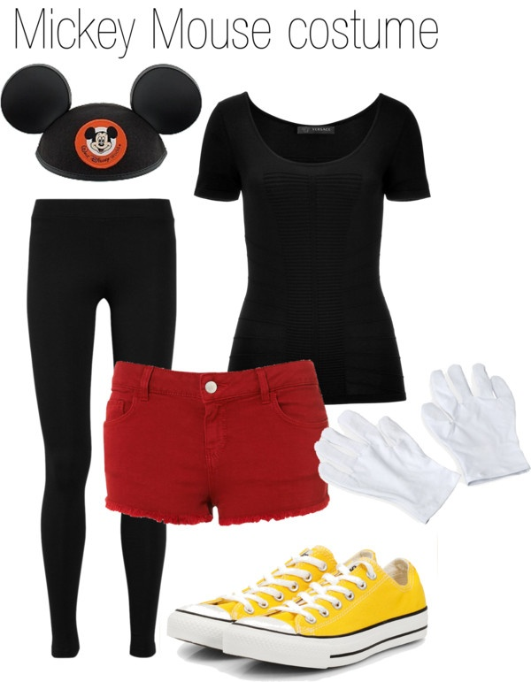"""""""Mickey Mouse Halloween Costume"""" by hiddles-and-cumberbatch ❤ liked on Polyvore"""