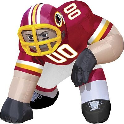 Washington redskins bubba inflatable figure want for Hail yeah redskins shirt