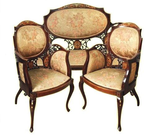 Victorian Parlor Suite: for those intimate tete a tetes lol
