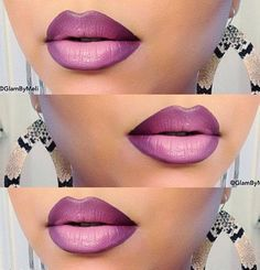 purple shaded lips