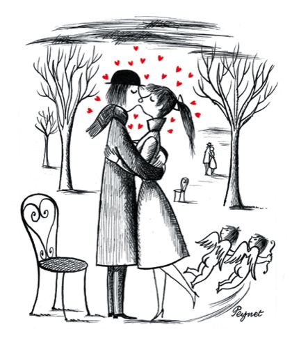 Raymond peynet peynet pinterest hiver dessins et amour - Dessin sur l amour ...