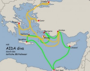 AIDA östliches Mittelmeer