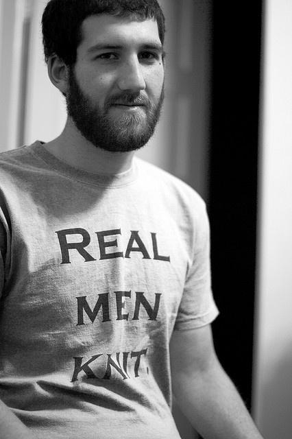 Real Men Knit by Jillian Corinne