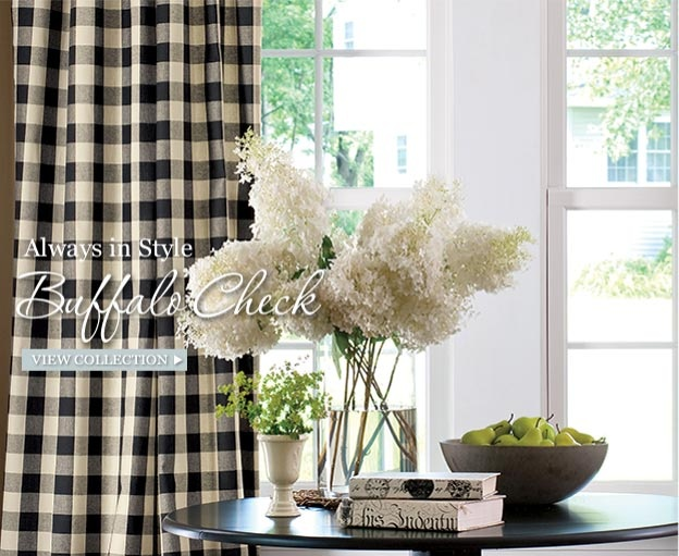 195 best BUFFALO CHECK images on Pinterest Buffalo check, Canvas - country curtains for living room