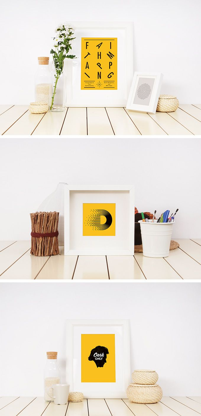 Photo Frame Mockup Templates - download freebie by PixelBuddha