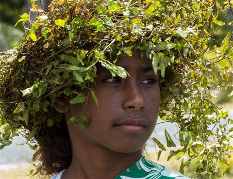 School girl, Island of Mare, New Caledonia