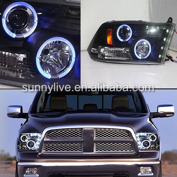 499.99$  Buy here - http://alihw1.worldwells.pw/go.php?t=32361351590 - Blue Angel Eyes headlamp  09-2012 Year For Dodge Ram RAM PICK UP 1500  2500 3500 LED Headlight 499.99$