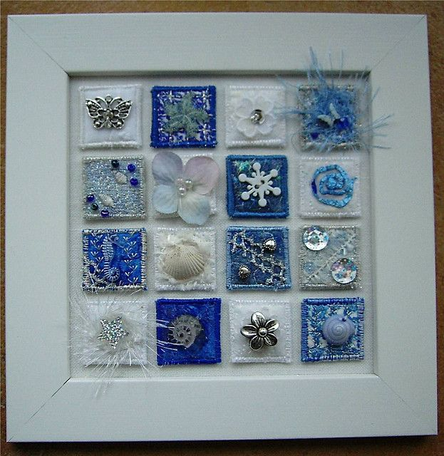 This gave me an idea of what to do with some of those sparkly snowflakes, or even the crocheted ones I have