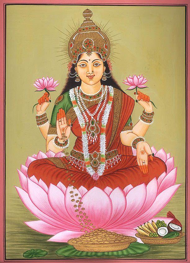 LAKSHMI (Induismo) Dea della ricchezza, abbondanza e prosperità.  E' la consorte (shakti) di Vishnu  http://www.ilcerchiodellaluna.it/immagini/lakshmi4.jpg