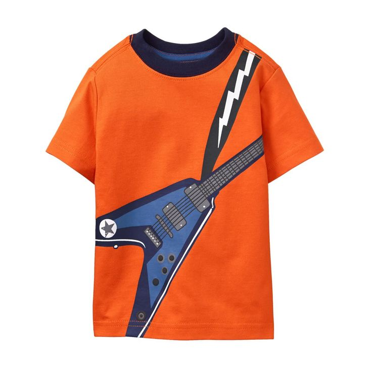 Toddler Boy Super Orange Flying V Tee by Gymboree