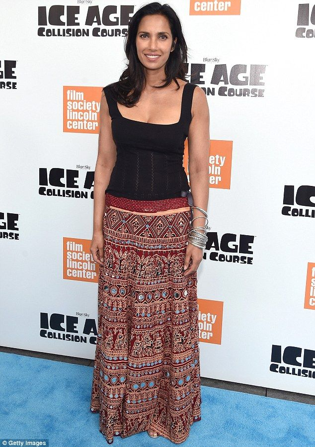 Pretty lady: Padma Lakshmi kept it casual for the Ice Age: Collision Course screening in N...