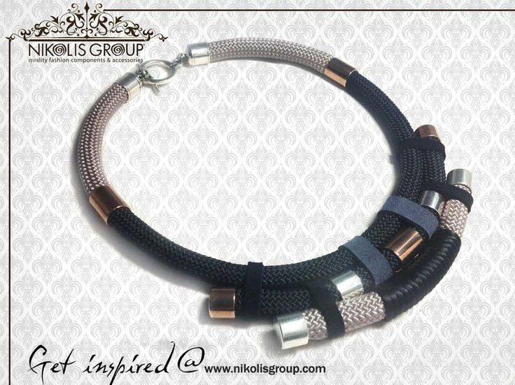 wear this fantastic necklace!use climbing cord and brass tubes, find the materials on our webpage @ www.nikolisgroup.com