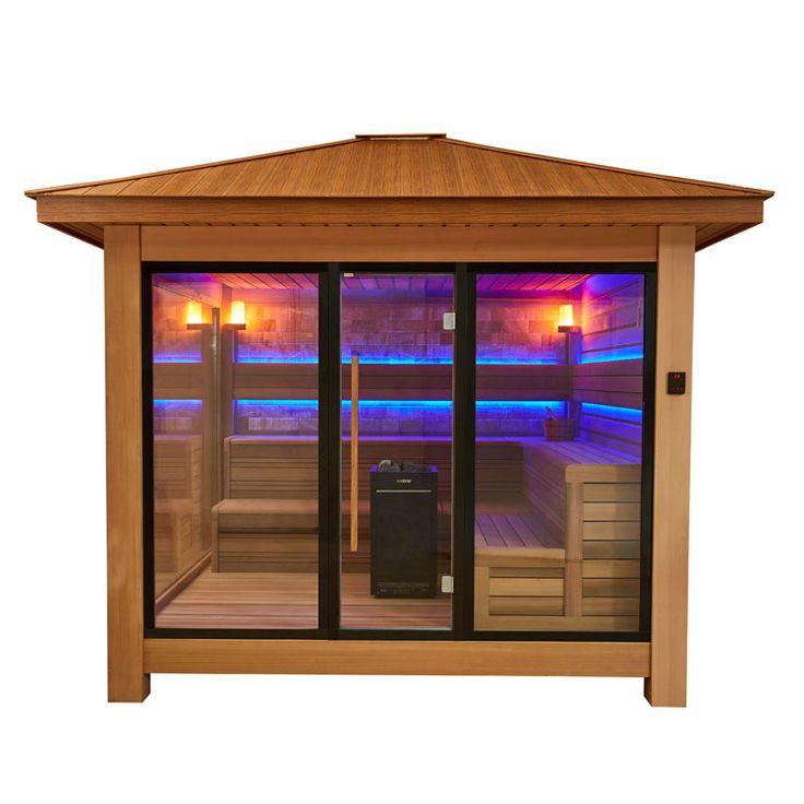 EO-SPA Sauna LT1416B rote Zeder/300x300/13.5kW Vitra