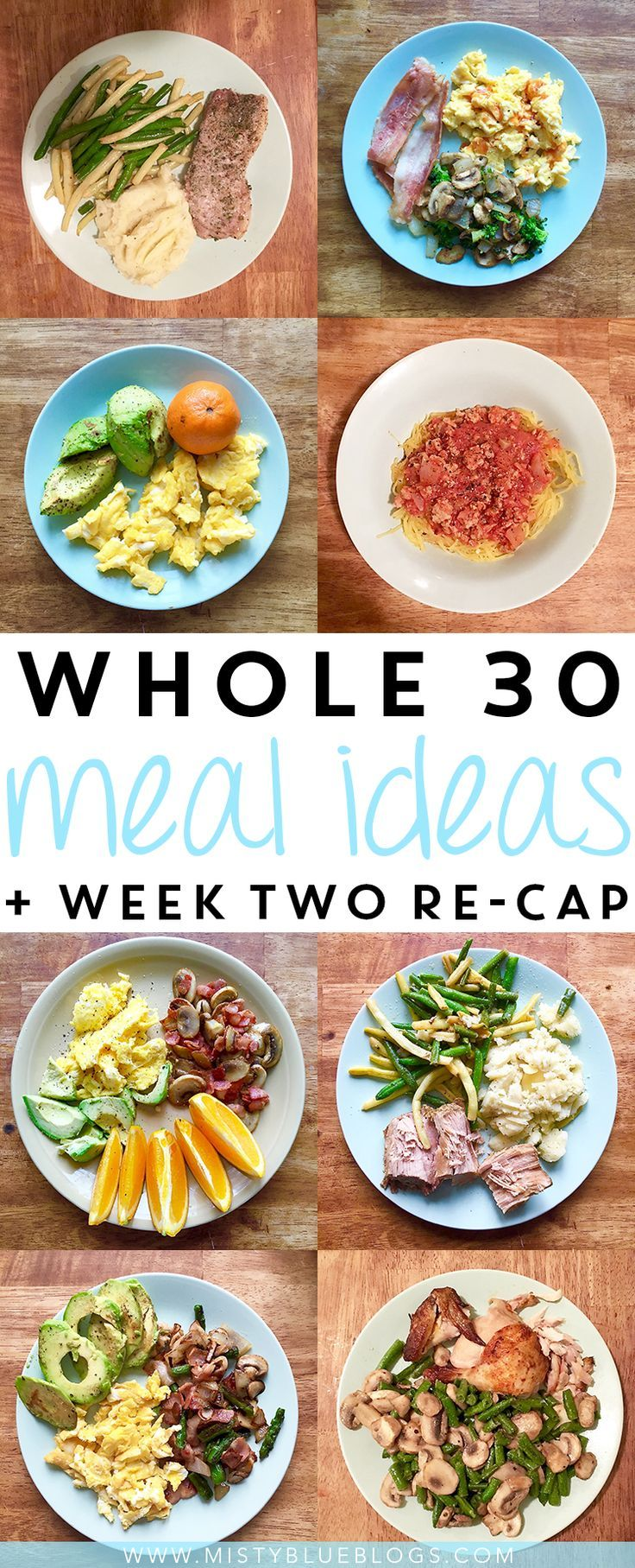 Whole 30 meal ideas and a re-cap of my second week of the challenge!