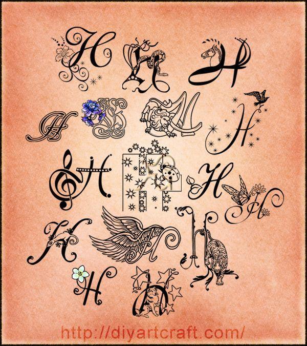 letter h tattoos tattoo designs tattoos t letras