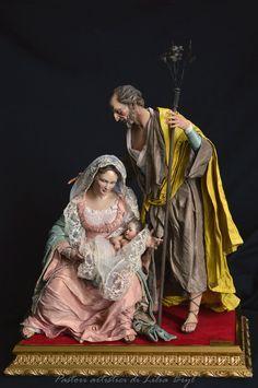 Natividad '- estilo napolitano Pastores 700 Lilia Bryl