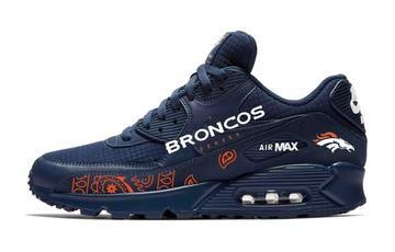 284c9b5759ac Bandana Fever Orange Bandana Denver Broncos Print Custom Navy Nike Air Max  Shoes