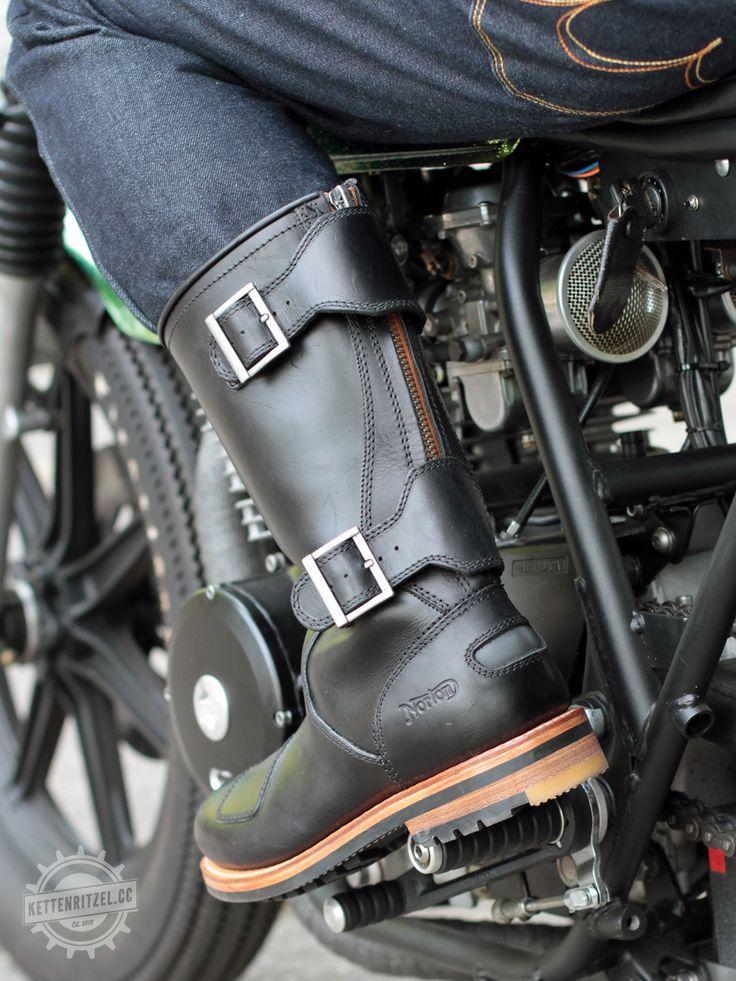 Norton Zip Biker Boots
