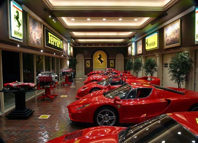 Garage In Ferrari Red InteriorLuxury