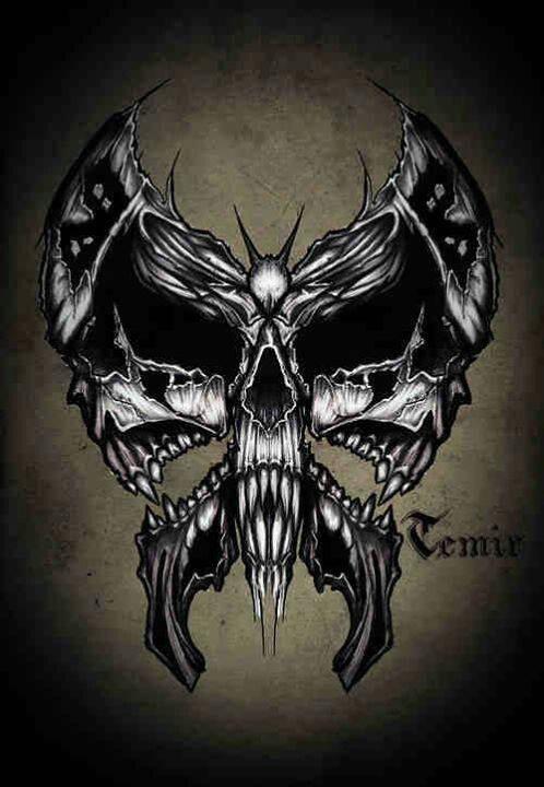 Totenkopf Kunstbild