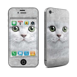 Kitty iPhone 4/4S Skin Gray, $12, now featured on Fab.
