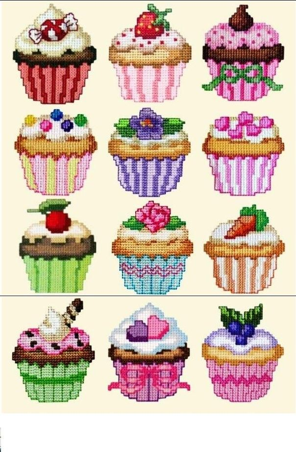 grafico cupcake ponto cruz - Pesquisa Google
