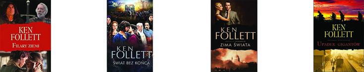 """Akcja pierwszego tomu rozgrywa się w XII – wiecznej Anglii, w fikcyjnym miasteczku Kingsbridge wokół budowy katedry, która trwała prawie czterdzieści lat. Jest to saga o wielkiej miłości, targanej wieloma przeciwnościami, walce o władzę, konfliktach na tle religijnym. Drugi tom zaczyna się dwieście lat później, a bohaterami są potomkowie Alieny i Jacka – głównych postaci """"Filarów ziemi"""". Niezapomniane postacie, wiele emocji i przygód, sprawia, że powieści zostają na długo w pamięci. """"Upadek…"""