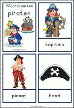 Woordkaarten Piraten - klein