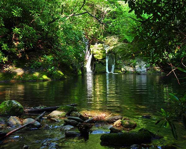 Blue Hole water hole is great for swimming and fishing in Boone, NC