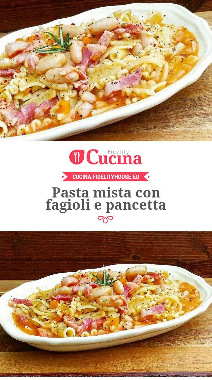 Pasta mista con fagioli e pancetta della nostra utente Carmela. Unisciti alla nostra Community ed invia le tue ricette!