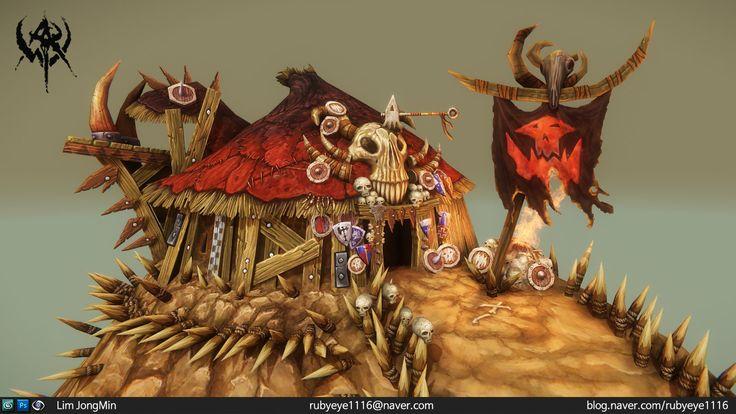 Warhammer orc boss tent, Lim JongMin on ArtStation at http://www.artstation.com/artwork/warhammer-orc-boss-tent