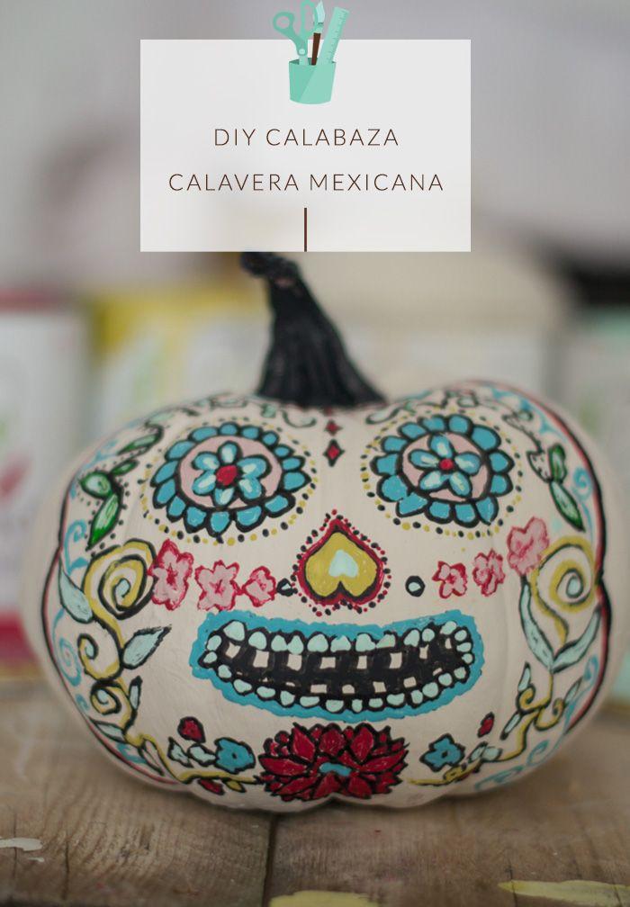 halloween, calabaza calavera mexicana, pumpkin, mexican skull. Hadas y Cuscus