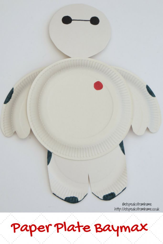 Paper Plate Baymax - ET Speaks From Home