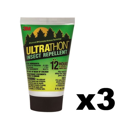 3M Ultrathon Insect Repellent Lotion 2oz 12 Hour Mosquito Tick Bug Gnat (3-Pack)