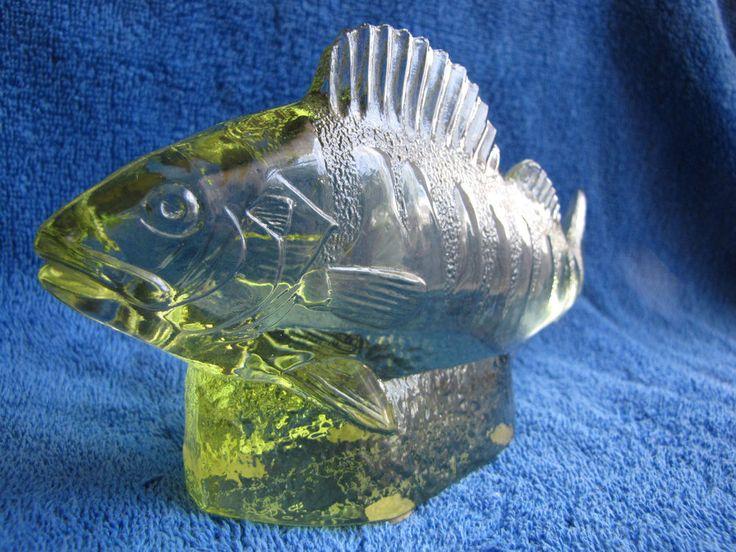 Sweden #Kosta Paul #Hoff #glass #abborre #perch #figurine #sculpture #WWF #animals fish #decor #PaulHoff #Homedecor #homedesign #homedeco #decordesign