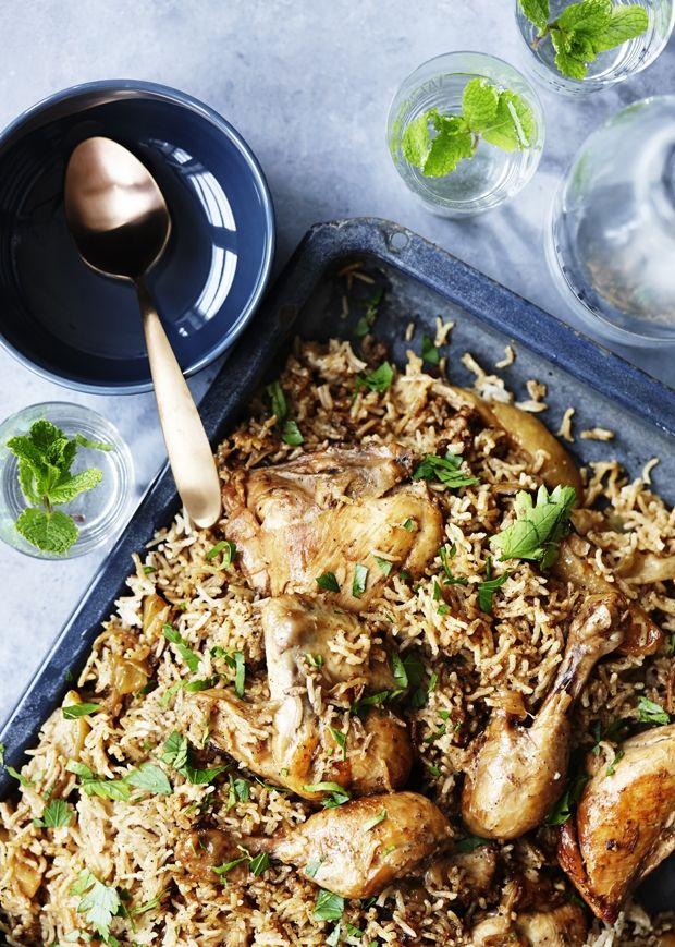 Arabisk gryderet med kylling