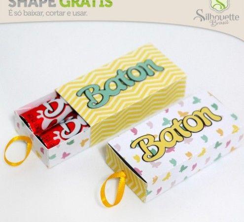 » Shape 51: Caixinha para Baton - Silhouette Brasil